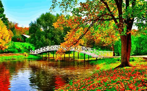 Happy Garden Fall River by Animated Autumn Pictures Photos And Images For And