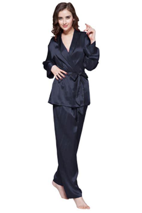 Piyama Satin Velvet Navy Flamingo luxury silk pajamas for sale