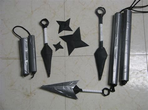 How To Make Weapons With Paper - paper kunai and sheath instructable