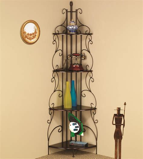 Corner Rack by Coaster Accent Racks Copper Corner Rack Nassau Furniture