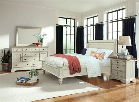 white sleigh bed queen queen antiqued white storage sleigh bed by cresent fine