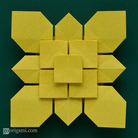 origami tessellation diagrams clover and hydrangea tessellations by shuzo fujimoto go