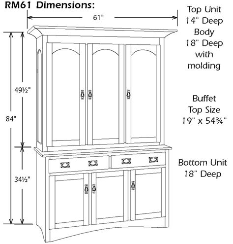 Dining Room Buffet And Hutch Royal Mission Three Door China Hutch Ohio Hardword