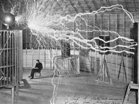 Nikola Tesla Transformer Nikola Tesla Lab Glossy Poster Picture Photo Electricity