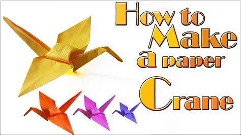 How To Make A Crane Out Of Origami - how to make a paper crane tutorial origami crane