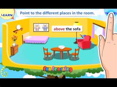 prepositions of place demo youtube