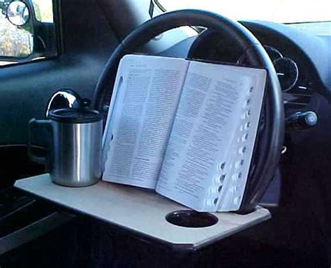 homemade steering wheel desk mulitasking homemade steering wheel desks geekologie