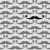 Moustache Pattern Lab | mustache fabric wallpaper gift wrap spoonflower