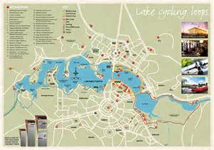 lake burley griffin cycling map visitcanberra