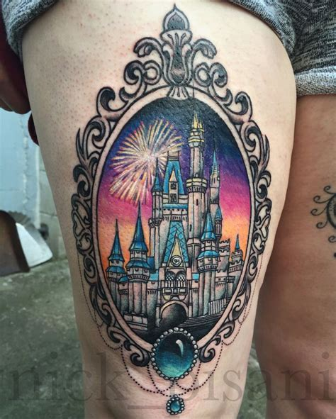 disney world tattoos 25 best ideas about disney castle on