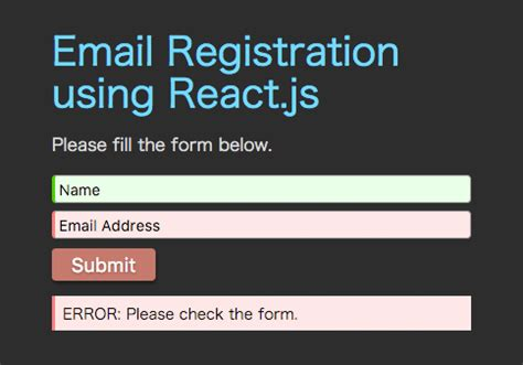 react tutorial github react tutorial for beginners email registration