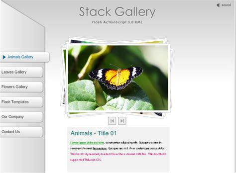 Collection Of Free Flash Website Templates With Fla Source Files Smashingapps Com Free Flash Website Templates With Source Files