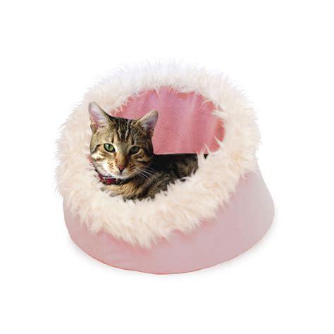 comfort cat paw feline cat comfort cavern pet bed pink pet