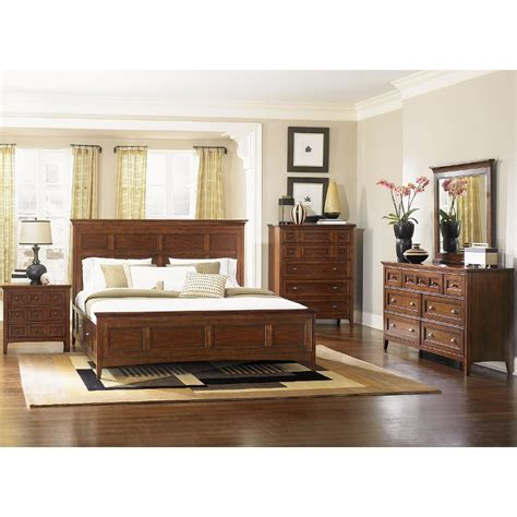 Cherry King Bedroom Set by Harrison Cherry Casual Traditional 6 Cal King