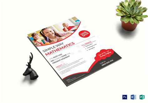 math tutoring flyer template simple math tutoring flyer design template in word psd