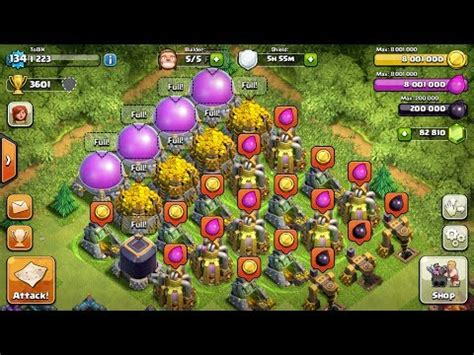 coc christmas layout clash of clans most ressources ever more than 18