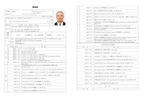 Resume Template Japanese by Format For Japanese Resume Definekryptonite X Fc2