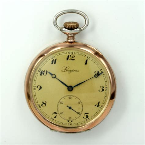 buy antique longines pocket in gold silver sold