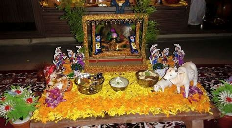 Janmashtami Home Decoration by Janmashtami Decoration Ideas Pooja Room Designs