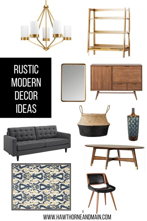 modern rustic home decor rustic modern decor ideas hawthorne and main