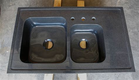 custom basin drop in kitchen sink black granite