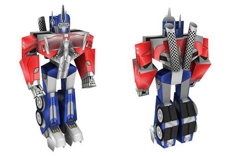 Papercraft Transformers Optimus Prime - transformers wars papercraft box set visualspicer