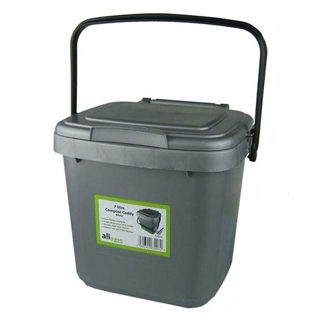 Kitchen Waste Compost Bin by Kitchen Compost Caddy Silver Grey For Food Waste