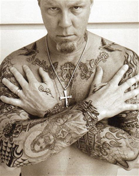 tatouage james hetfield metallica tatouage straight edge