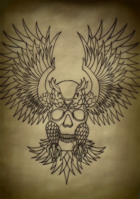 owl and skull tattoo designs owl tattoos designs ideas and meaning tattoos for you