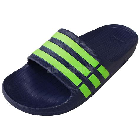 sports house shoes adidas duramo slide men sports slippers navy green sandal shoes nwob g95489