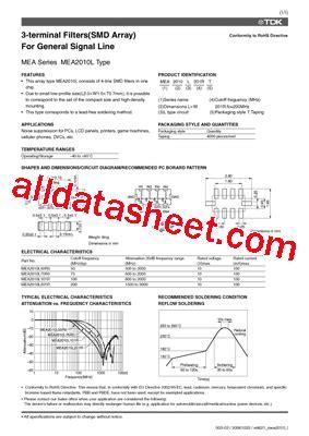 tdk capacitors datasheet mea2010l datasheet pdf tdk electronics