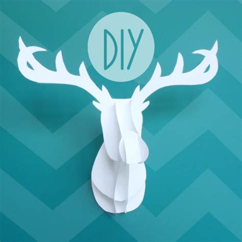 cardboard taxidermy templates deck the s 3d deer