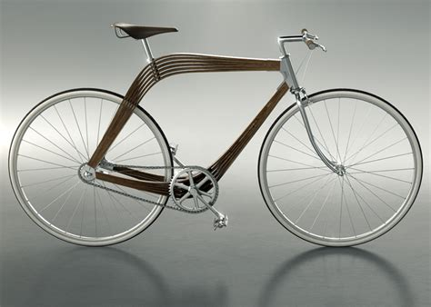 Design Frame Bike | architects design wooden bicycle frame to explore