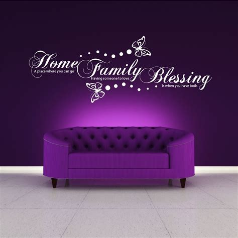 vinyl wall sticker printing family home blessing wall wall quote sticker decal mural stencil vinyl print ebay