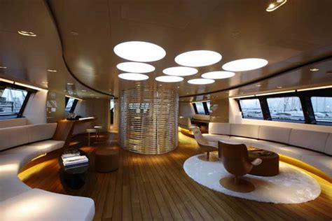 the circular dining room perini navi panthalassa 171 www yachtworld www