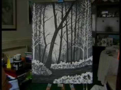 bob ross painting on black gesso bob ross of painting timelapse my attempt