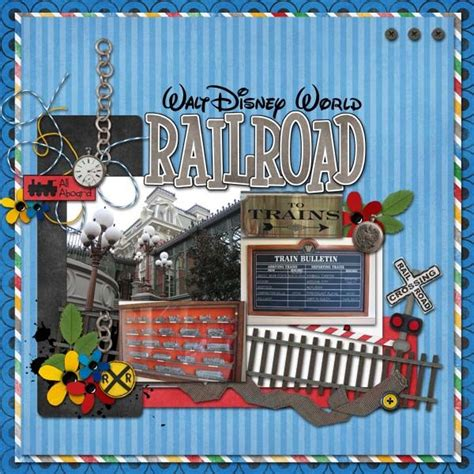 scrapbook layout generator railroad disney scrapbook layout disney scrapbook
