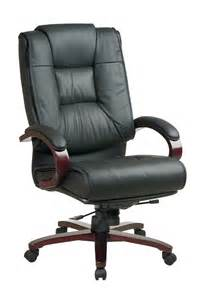 High Back Patio Chair Office Star High Back Leather Executive Chair With