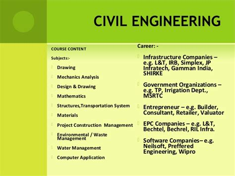 engineering courses career selection engineering final