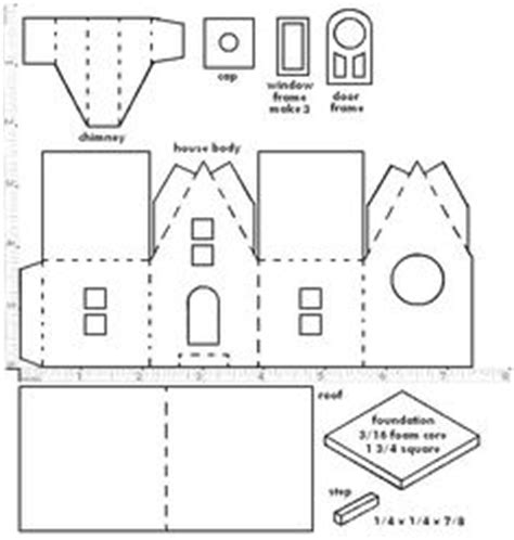 Paper Folding House Template - altered artifacts glitter houses and church free