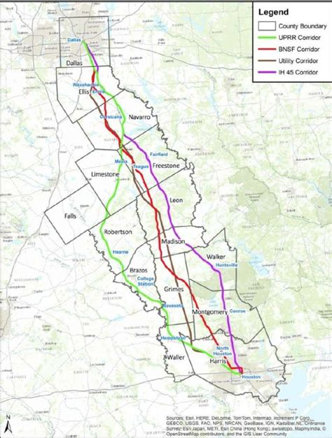 houston easement map utility corridor gets nod for high speed rail houston