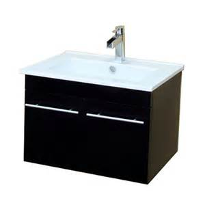 shop bellaterra home black integrated single sink bathroom
