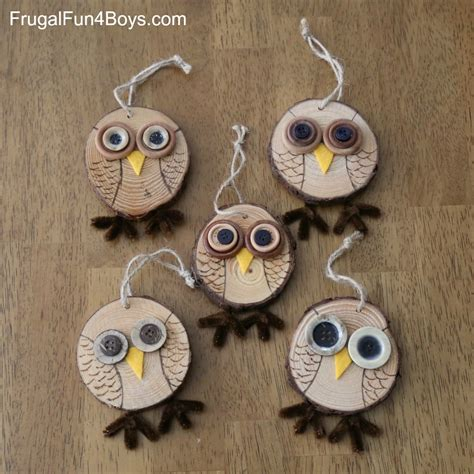 Diy Recycled Home Decor by How To Make Adorable Wood Slice Owl Ornaments And An Owl