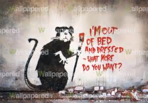 banksy out of bed rat wall mural banksy wallpaper wall in your home with great value banksy wallpaper designs by wall
