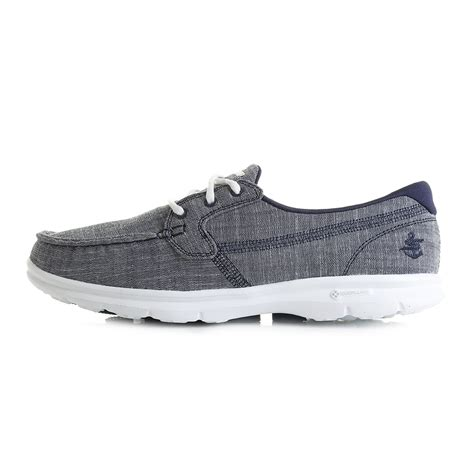 Sneakers Trainer Navy Footstep Footwear womens skechers go step marina navy classic lightweight boat shoes shu size ebay