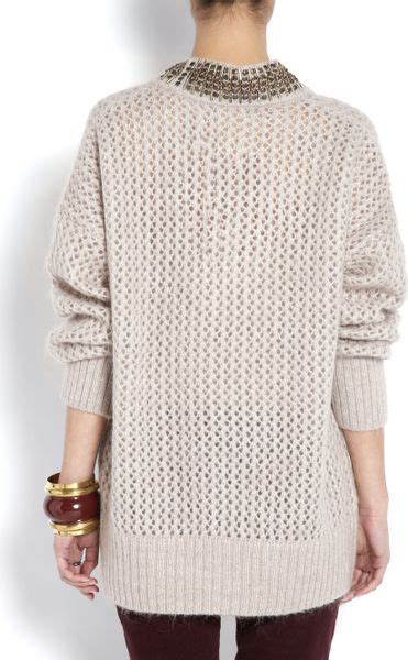 Talita Tunic day birger et mikkelsen day talita chunky embellished knitted tunic in pink lyst