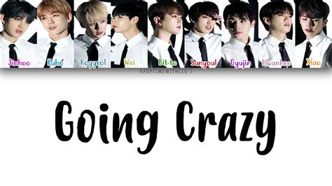 going crazy up10tion going crazy 미치게 해 lyrics color coded han rom