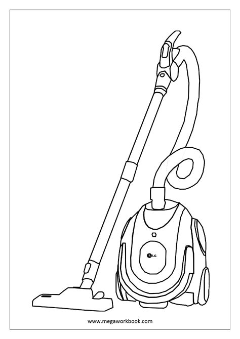 coloring pages vacuum cleaner vacuum coloring pages