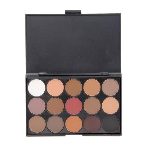 matte eyeshadow palette professional 15 colors warm matte shimmer eyeshadow