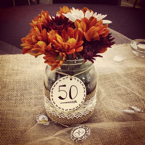 50th Wedding Anniversary Party Centerpiece Projects I Birthday Centerpieces